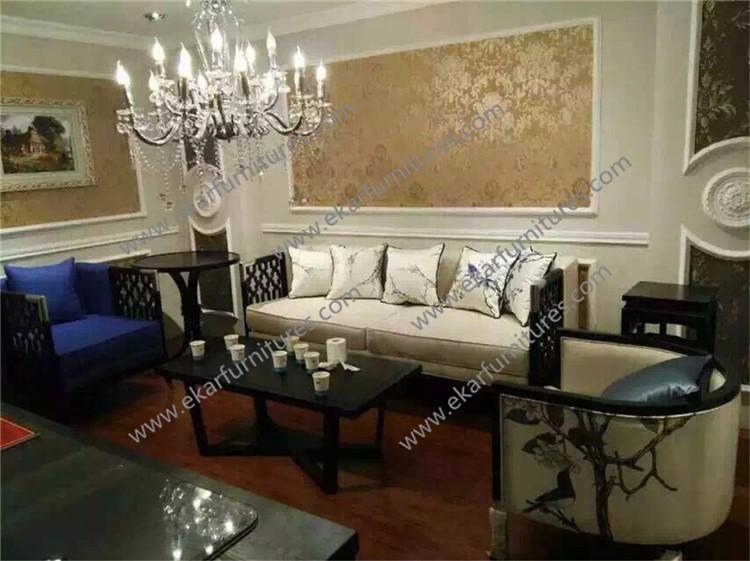 Victorian Style Furniture Luxury Living Room Set Velvet Chesterfield Sofa