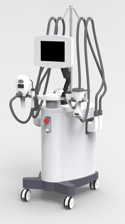 Professional vacuum roller cavitation rf infrared multi functional velaslim for body shaping rf vacuum machine