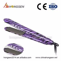 Brand names electric appliances ironic electric hair straightener with comb brush flat iron