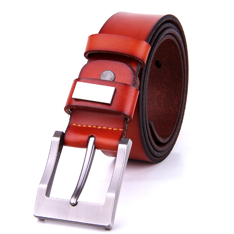 Habitaen Genuine Leather Belts Without Buckle For Men With One Layer Leather