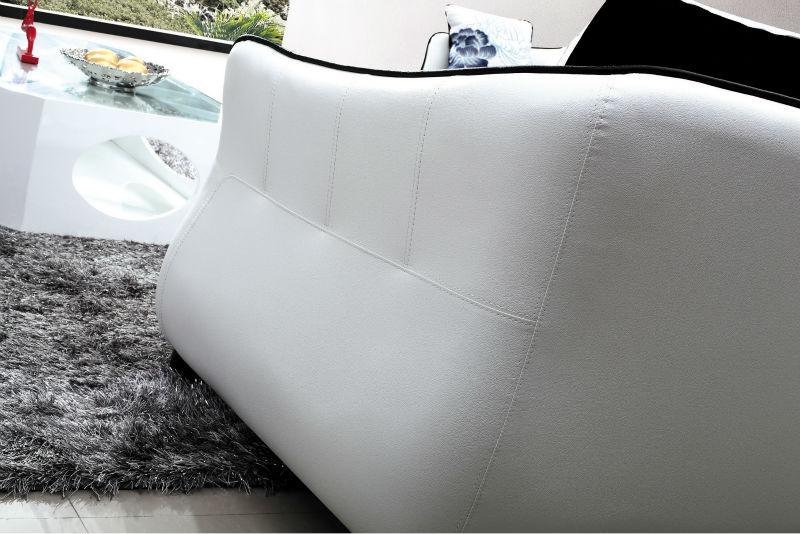 Half Fabric Half Leather Sofa In Milano Leather Sofa For