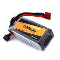 7.4V Rc Helicopter Toys Rechargeable Lithium Polymer Battery Pack 7.4V 1100mAh Lipo