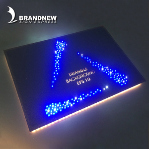 Factory custom company decoration stainless steel led big letter sign