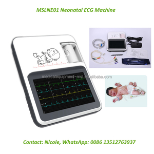 12-channel 7 inch Touch and color screen portable neonatal ecg machine/monitor ecg MSLNE01