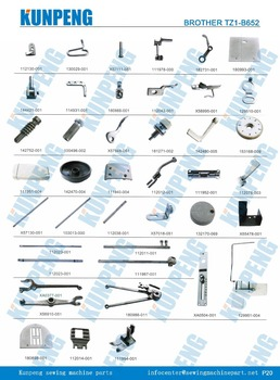 brother zigzag sewing machine spare parts for BROTHER TZ1-B652, View ...