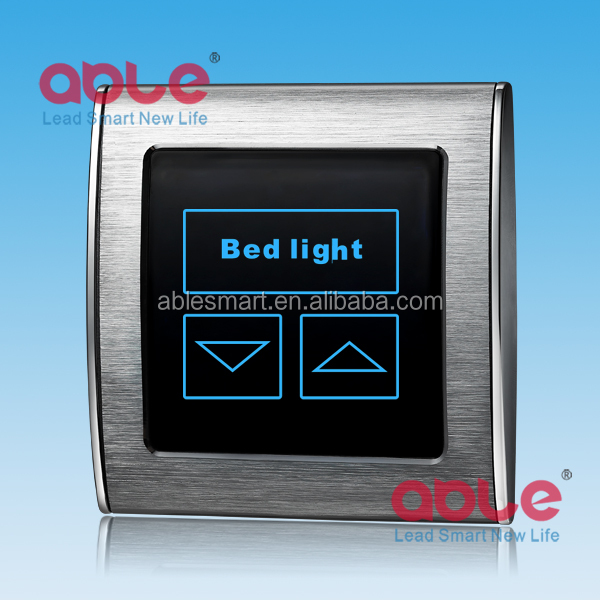 2016 newest style brushed metal frame smart touch led dimmer light control <strong>switch</strong>