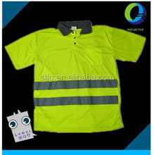Men Cloth High Visibility Polyester Polo Shirt