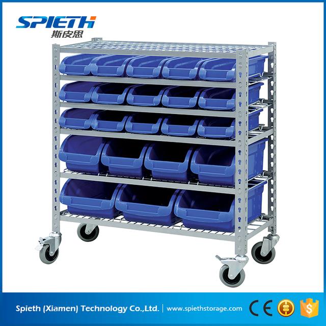 DIY Plastic Bin U0026amp; Bin Storage Plate Rack, Movable Metal Shelves
