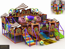 KAIQI GROUP Candy castle theme kids favorite attractions Indoor Playground Series