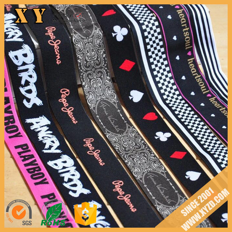 New Fashion Customized Logo Jacquard Underwear Men Elastic Tape with Factory Price