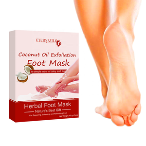 Private label MOQ 100 Coconut Oil Exfoliation Foot Mask Foot Peel Mask