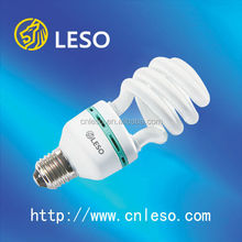 2016 main products energy saving lamp 22W T4 half spiral LESO fluorescent lamp good quality and high lumen
