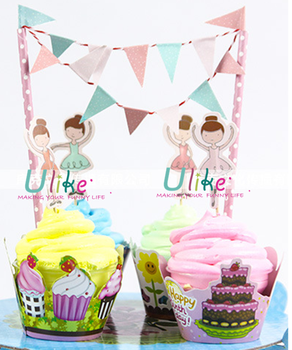 Kids Party Cake Decor Happy Birthday Cake Toppers Theme Party Cake Toppers Buy Theme Party Cake Toppers Paper Roll Up Banner Cheap Paper Banners