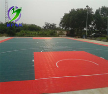 Draagbare indoor plastic Tennisbaan Interlock PP floor