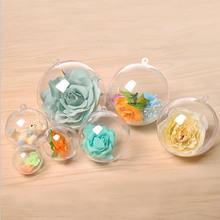 Clear Plastic Ornament 볼 크리스마스 싸구려 대 한 christmas decoration