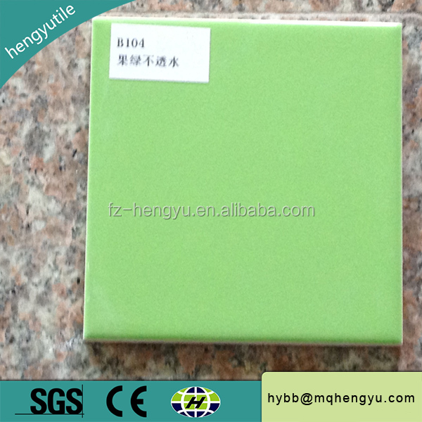 Ceramic Tile Green 100 X100mm Water Proof Pure Color Wall Tiles ...