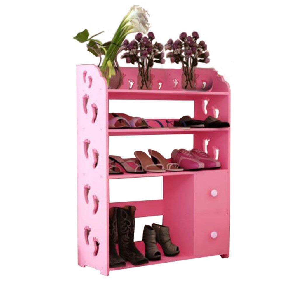 AIDELAI shoe racks Shoe Rack Cabinets Creative Carvings Boots Organiser Shelves Multifunctional Dustproof Multi Tiers With Drawer Combination Of Shoe Racks (Pink/602481)