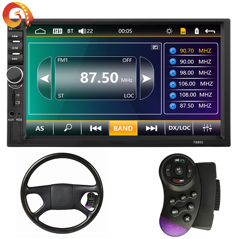 7 Touch screen auto stereo met Bluetooth Back up camera Navigatie functie spiegel link Radio FM USB sd Video speler