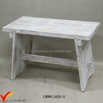 Superb Distressed Small Solid Wooden Vintage Foot Stools White Buy Vintage Foot Stools Wooden Footrest Stool Wooden Stool White Product On Alibaba Com Beatyapartments Chair Design Images Beatyapartmentscom