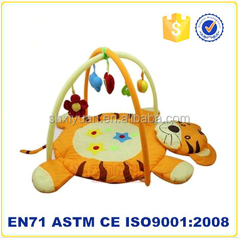 Hot selling kids tiger toy animal shaped plush play mat baby play mat