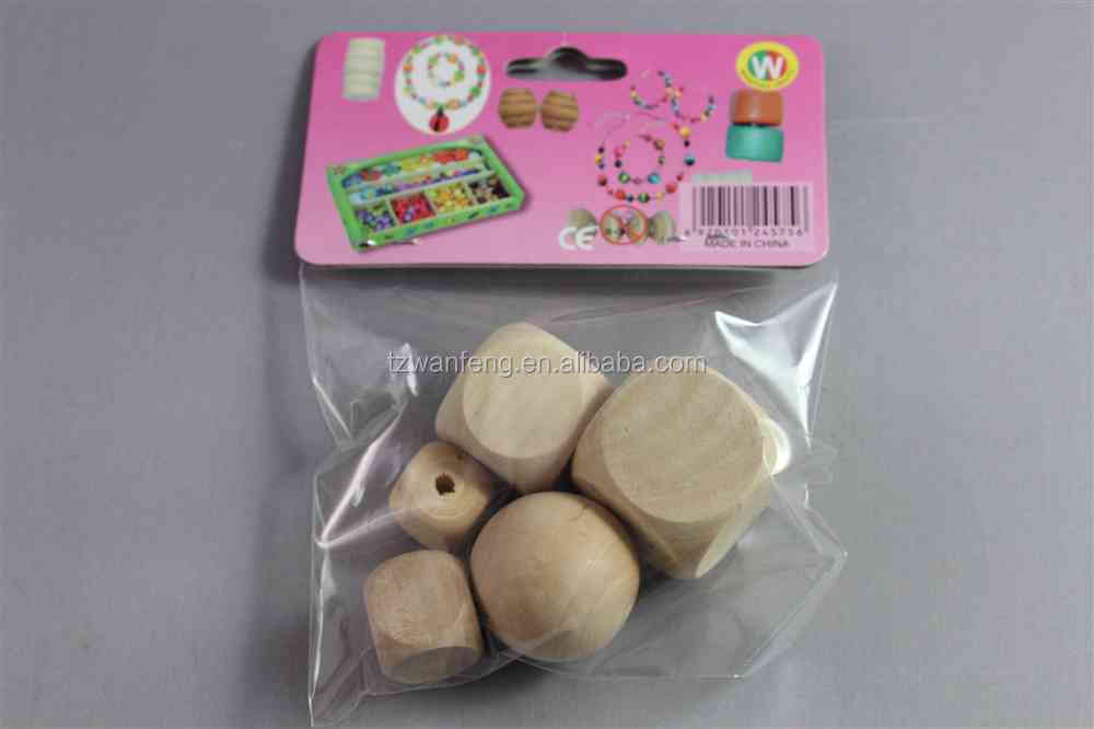 colorful diy wooden beads set wood bead fashional diy craft wooden bead set
