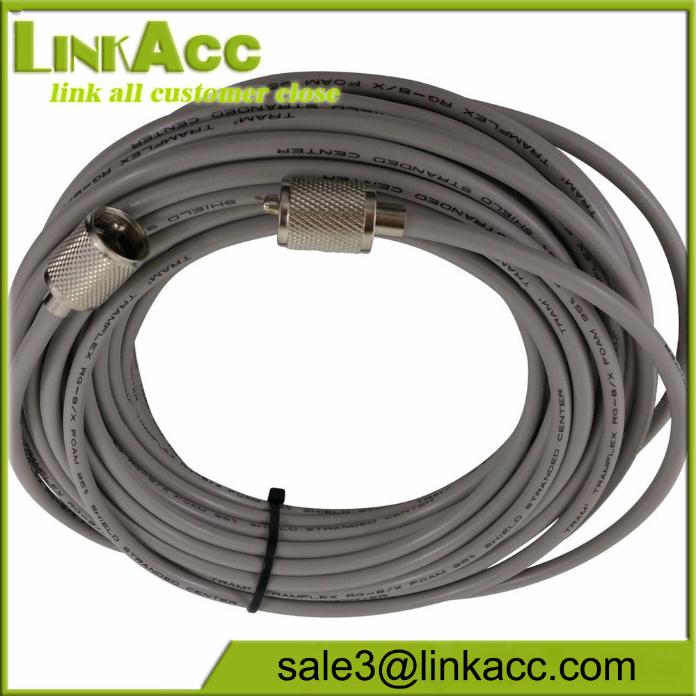 MADE IN USA! JSC RG-8X jumper 50 FT with PL-259 connectors for HAM and CB