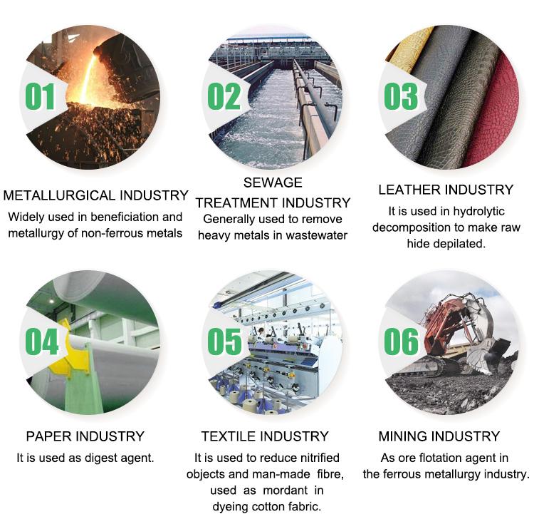 China basische anorganische Chemikalie 10 ppm 60% Natriumsulfid