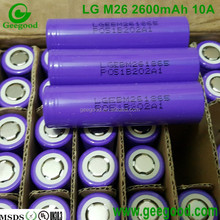 Geniune LG M26 2600mAh 10A real high amp 18650 3.7V battery for E-bike / E-scooter