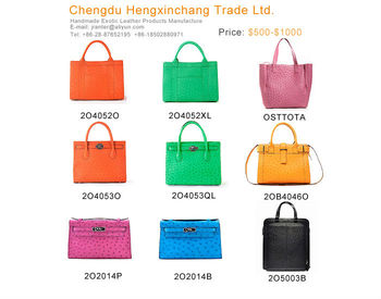 custom leather tote bag ostrich women leather handbag wholesale handbag china leather laptop bag