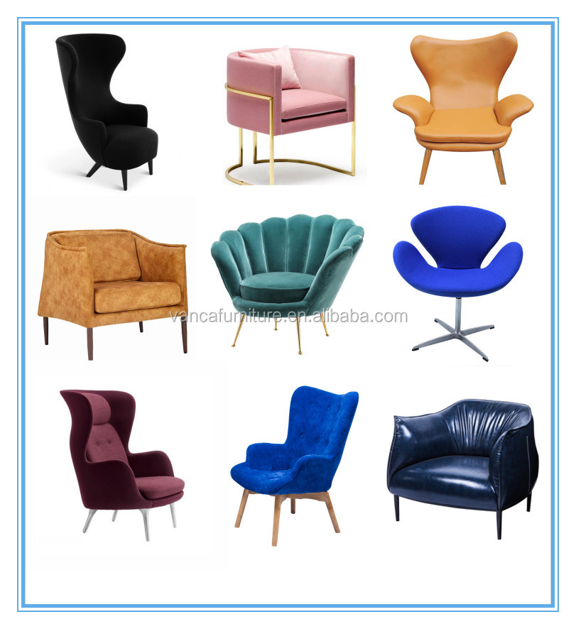 Modern dining room furniture linen fabric ring back dining chairs