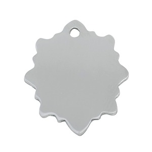 Stainless Steel Blank Leaf Shape Dog Tag Pendant For Men's Jewelry Marking
