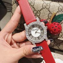 Новые женские часы со стразами, женские модельные часы с бриллиантами, модные женские часы с кожаным ремешком, элегантные женские часы montre ...(Китай)