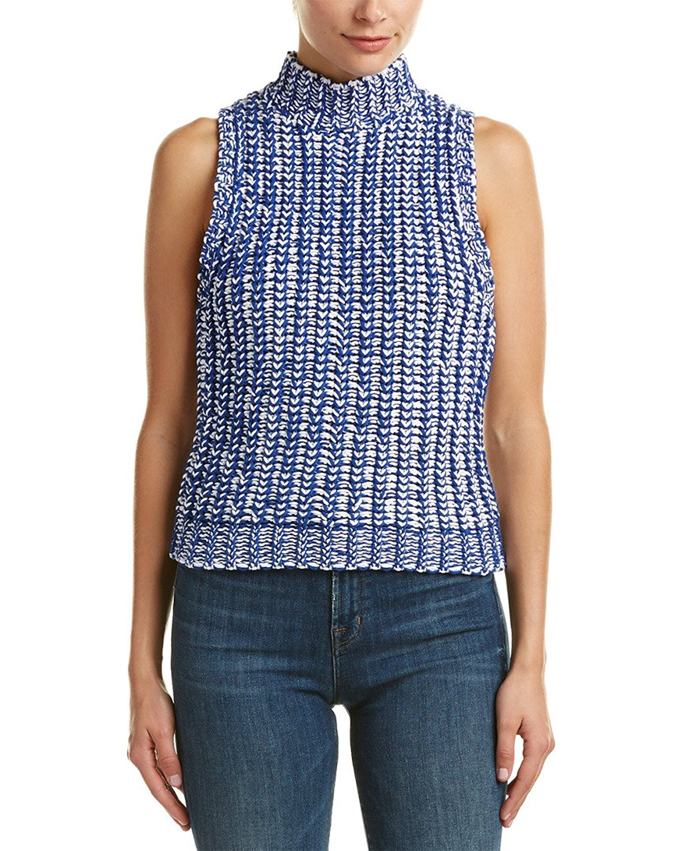 alice + olivia Womens Tomi Vest, M, Blue