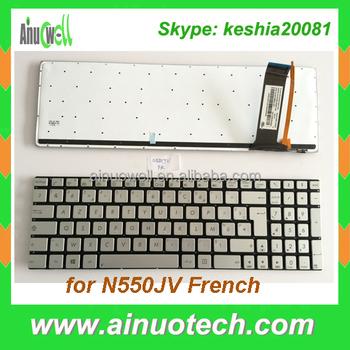 Fr French Laptop Keyboard For Asus N550 N550jv N550jk N750 N551 N56 on