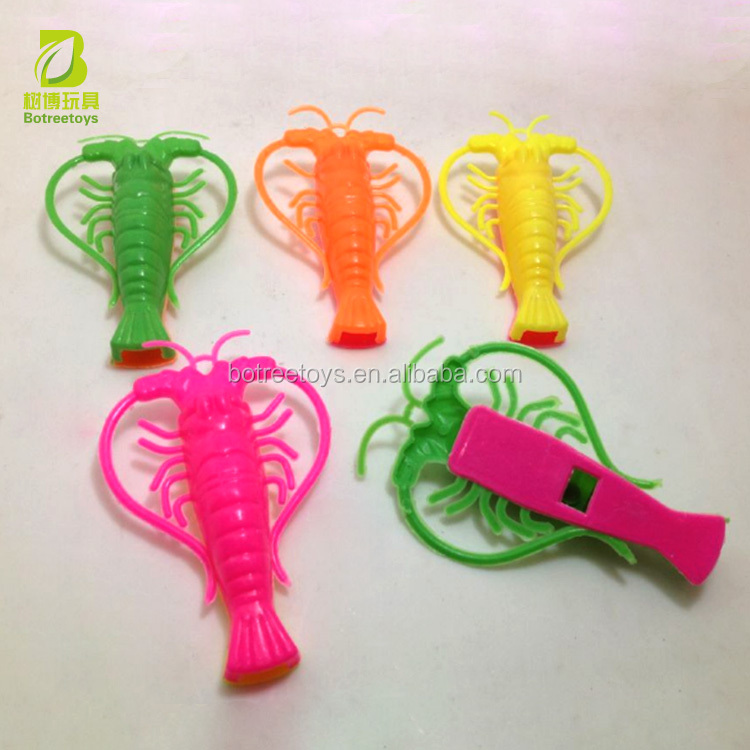 Mini Lobster Whistle Toy for Candy Promotional Plastic Gifts
