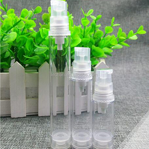 Clear plastic airless pump 5ml 10ml sample lotion bottle