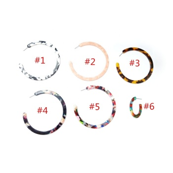 Popular Hot Sale Acetate Jewelry Women's 5cm Acetate Hoop Earrings
