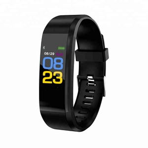 Healthy Heart Rate Movement Pedometer 0.96 inch color screen sports silicone Low power smart bracelet