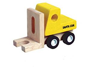 Mini Wood Toy Fork Lift Made from Durable Wood for Boys and Girls