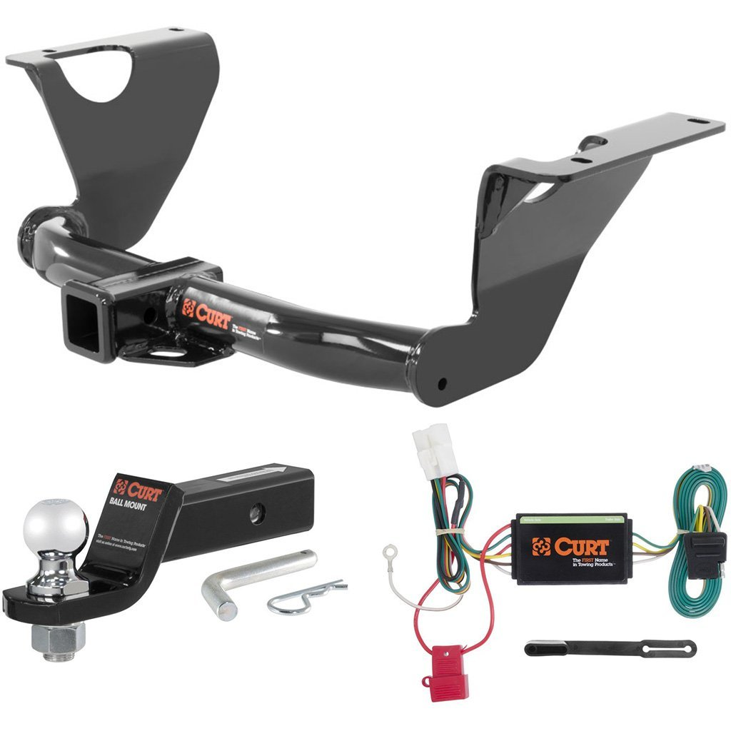 """CURT Class 3 Trailer Hitch Tow Package with 2"""" Ball for 2014-2016 Subaru Outback"""