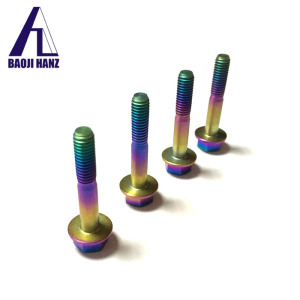 Made in china fastener titanium color anodized bolts