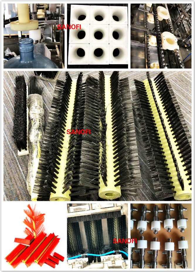 3in1 water machine Spare parts, parts for bottle filling machine