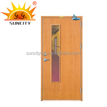 Emergency Exit Interior Fire Proof Fire Rated Pvc Wooden Fireproof