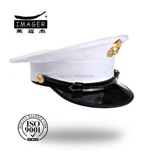 Fashion custom embroidered mens navy sea captain caps