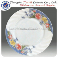 Russia Market Popular Flowers Opal Glassware Plates Tableware Dishes
