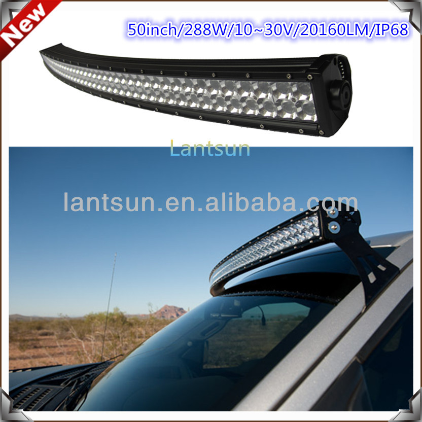 Auto Led Light Arch Bent 288w 52 Inch Led Light Bar Offroad Led ...