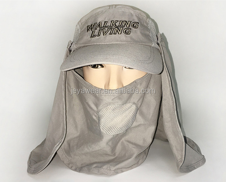 Outdoor Sun Protection Fishing Cap with Ear and Neck Flap Cover Bucket Hats