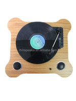 Multiple turntable vinyl record player with built in speakers