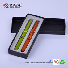 Office stationery gel pen pack / 0.38 mm gel pen set with metal color barrel