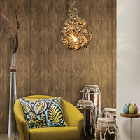 Modern decorative wood effect wallpaper PVC vinyl 3d wall covering